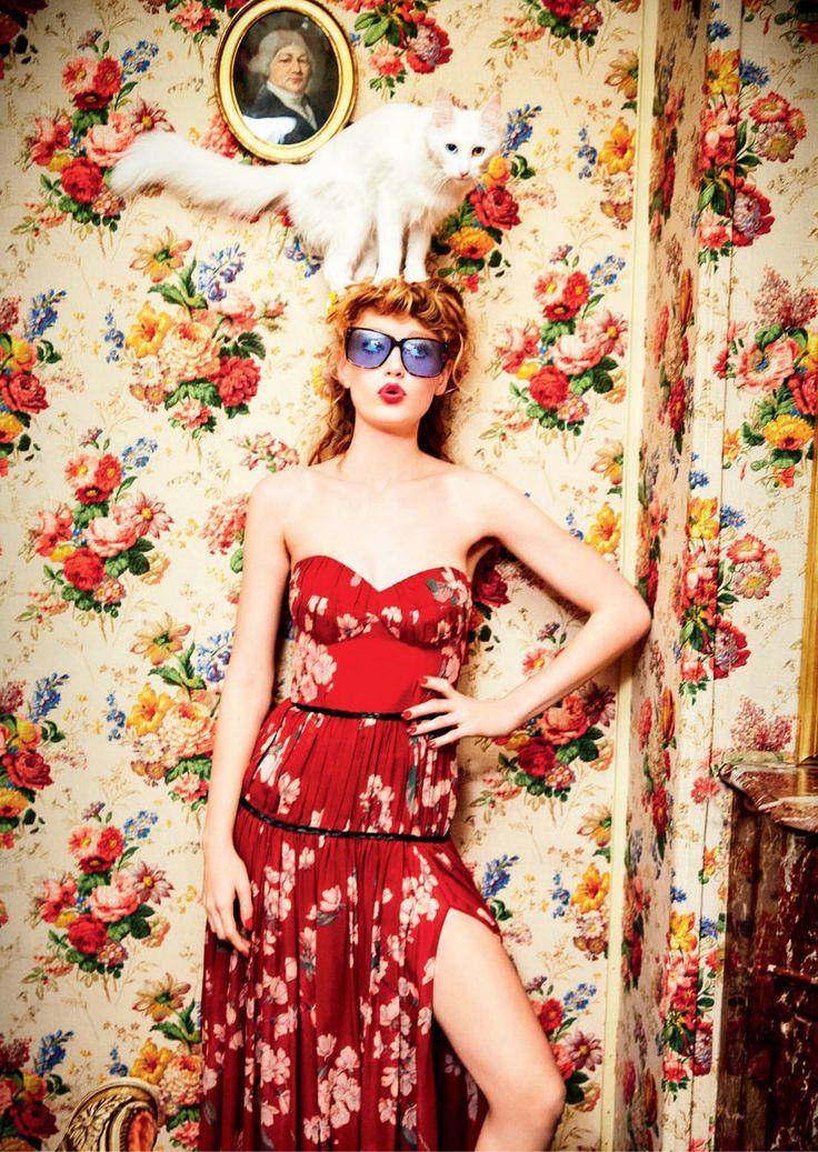 Hollie May Saker by Ellen von Unwerth for Vogue Russia April 2016 4
