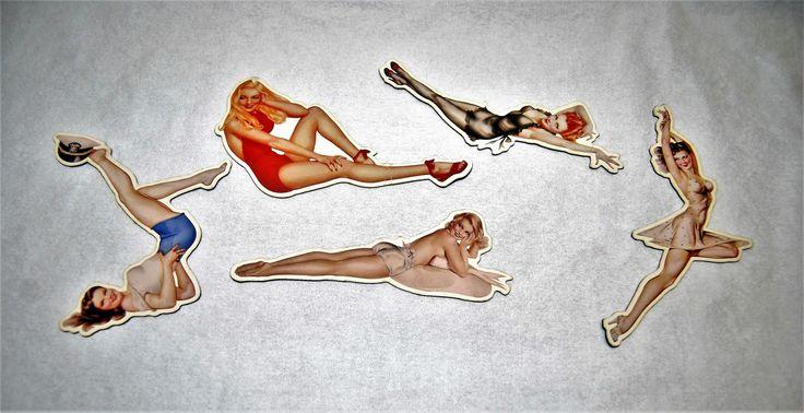 Vintage Pin-up Varga Girl Magnets | 1980's
