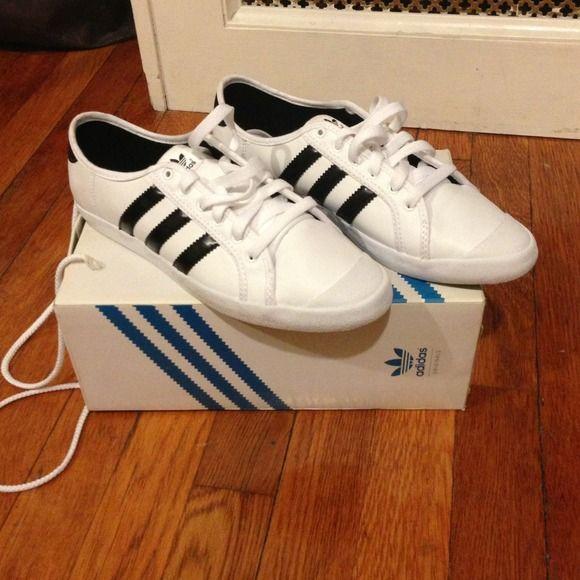 Price drop!! Adidas 'Adria low sleek' NWT Adidas 'Adria low sleek'... Wish they weren't too big for me I would soooo keep these!! Adidas Shoes