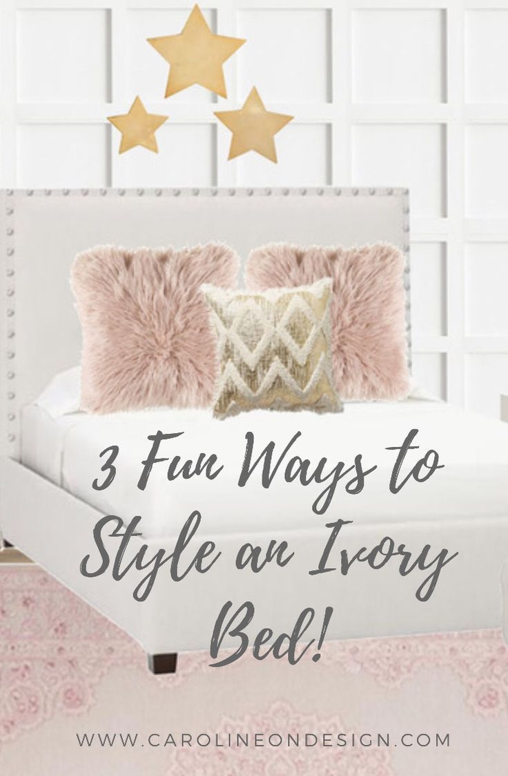Three unique and fun ways to style the Pb teen Raleigh upholstered square bed.