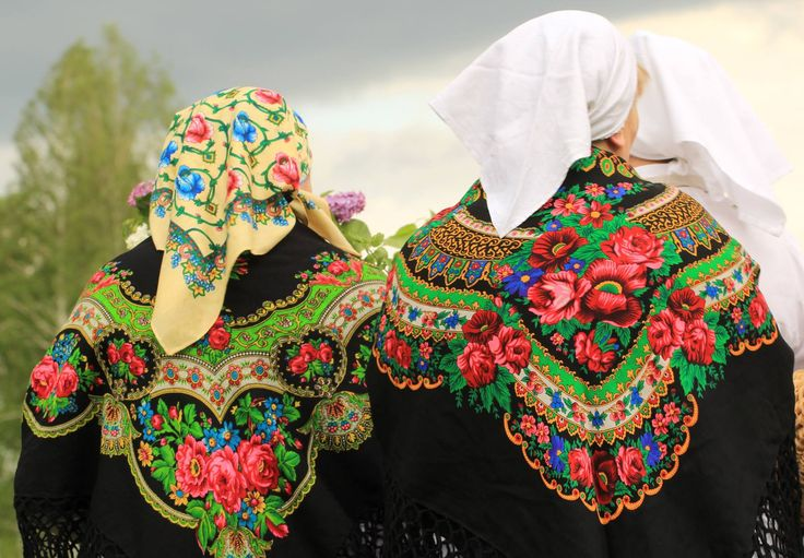 Traditional scarfs - Polish countryside.