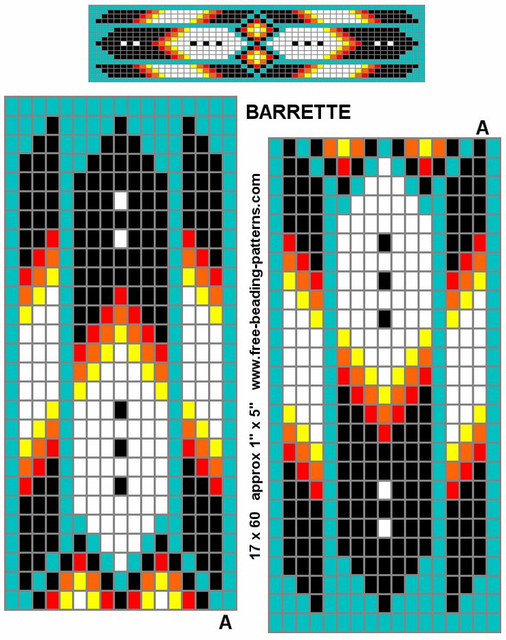 Feather barrette pattern with break down of which beads to put where. Its a common pattern. Might try this.