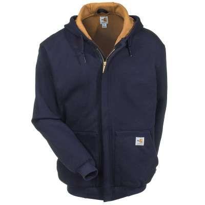 Carhartt Sweatshirts: Men's 101702 410 Dark Navy FR Thermal Lined Sweatshirt