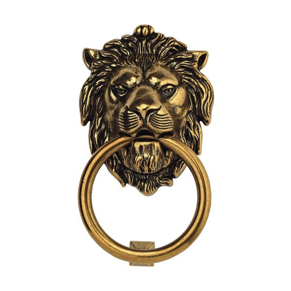 Classic Hardware 100977 Vintage Brass Lion Door Knocker   Knobs And Hardware