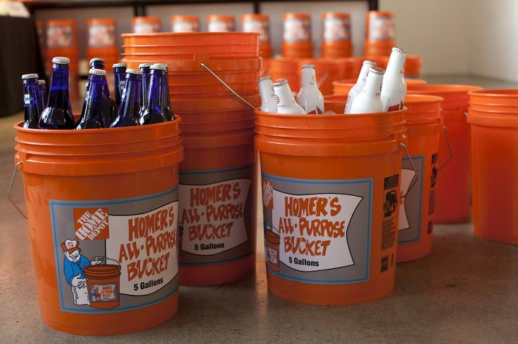 Watching football this weekend? Grab a Homer Bucket and throw some beverages in it, set them around the house...BOOM, party success!