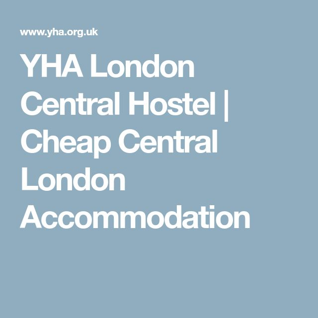 YHA London Central Hostel   Cheap Central London Accommodation