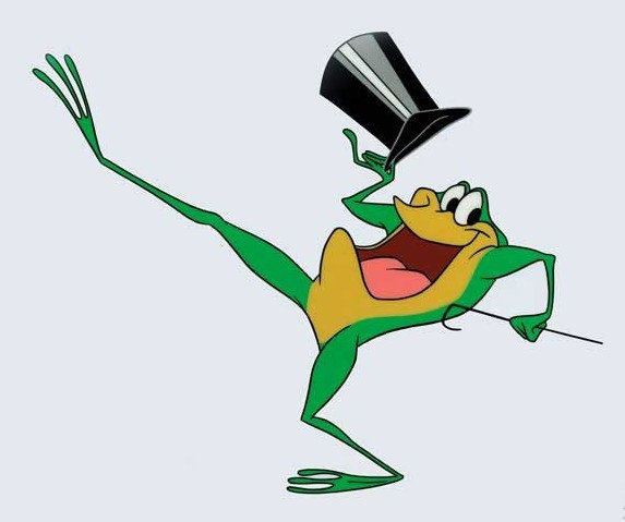 "Michigan J. Frog, the star of Looney Tunes best cartoon ever, ""One Froggy Evening"""