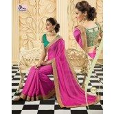 pink-chiffon-saree-with-contrast-green-blouse-from-muhenera-1212