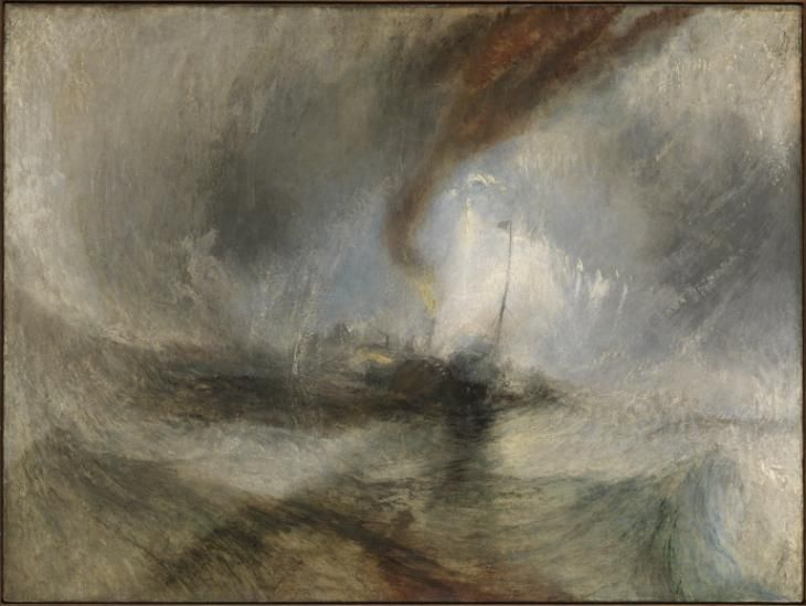 Joseph Mallord William Turner 'Snow Storm - Steam-Boat off a Harbour's Mouth', exhibited 1842