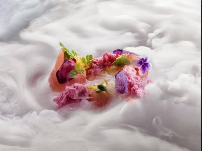un piatto da chef per prevenire il decadimento cognitivo: ricciola marinata all'aceto balsamico con neve di melograno