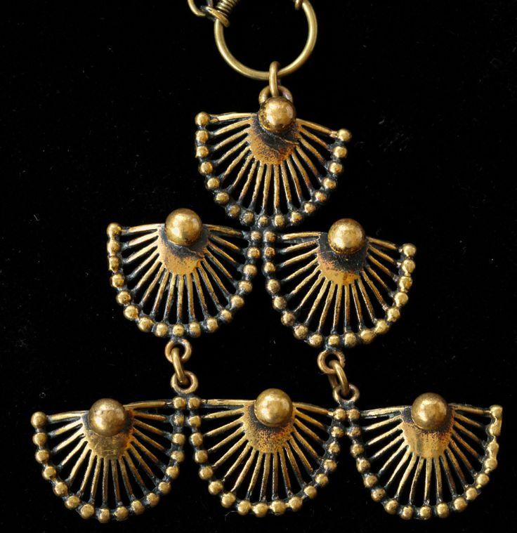 Pentti Sarpaneva for Turun Hopea, vintage bronze necklace. #Finland