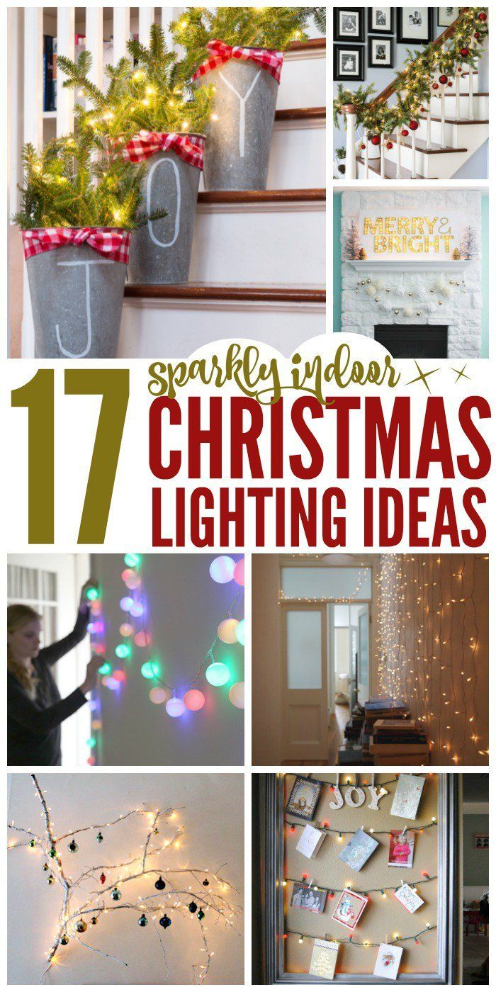 Indoor christmas decorations with lights - 17 Sparkling Indoor Christmas Lighting Ideas
