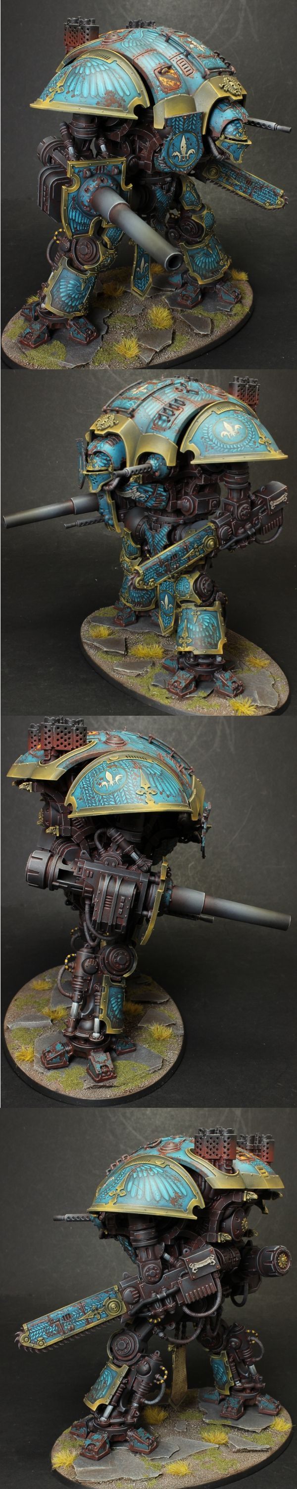 The work on this Imperial Knight is absolutely stunning and I wish I could paint freehand like this