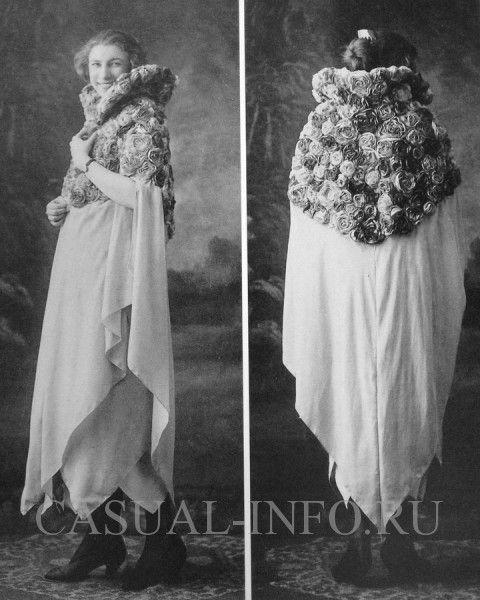 Мадлен Вионне платье-платок с накидкой