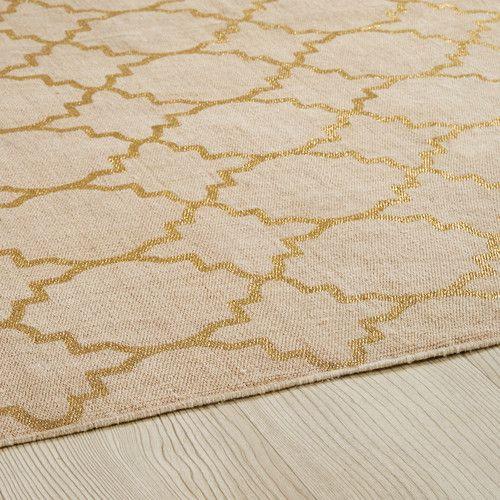 Tapis en coton beige à motifs 140x200cm NESTOR