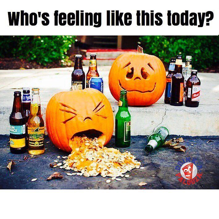 Who's feeling like this today? #Halloween #hangover  Cheers to last night's #partySquad  . .  #GetYourDrinkOn  w/ the DRINK-A-PALOOZA #drinkinggame. Play with  w/ your #party #friends.  D-A-P is a combo of #beerpong #flipcup and all the best #drinkinggames… # to #gamenight #partytime  #instadrink  #instadrunk  #drinkdrankdrunk  #drinking #booze & #beers #shots etc. #cheerstobeers  #beer #liquor #wine whatever & always #pregame #afterparty #latenight & #drinks  #hangover #partygirls