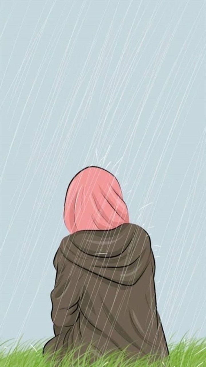 Pin By Farhana Islam On Wallpaper Hijab Cartoon Hijab Drawing Islamic Artwork