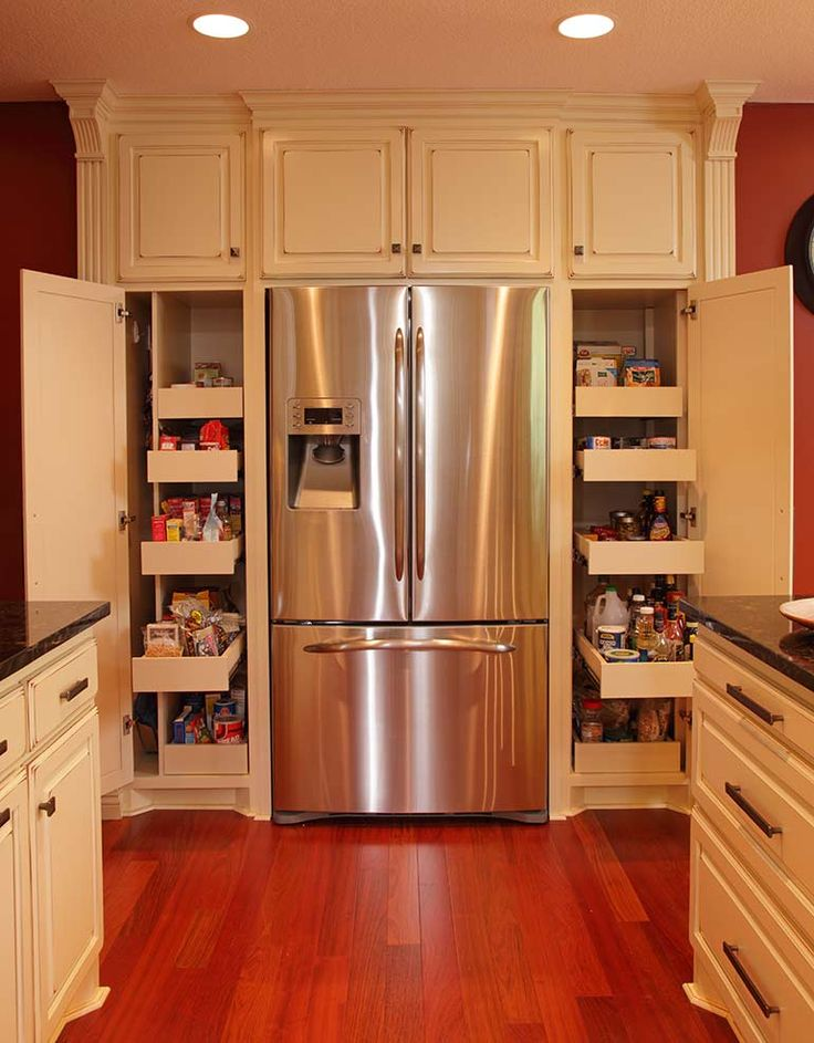 Pantry either side of fridge  For the refrigerator room Traditional Spaces Ideas Design Pictures Remodel Decor and Best 25 Small galley kitchens ideas on Pinterest Kitchen