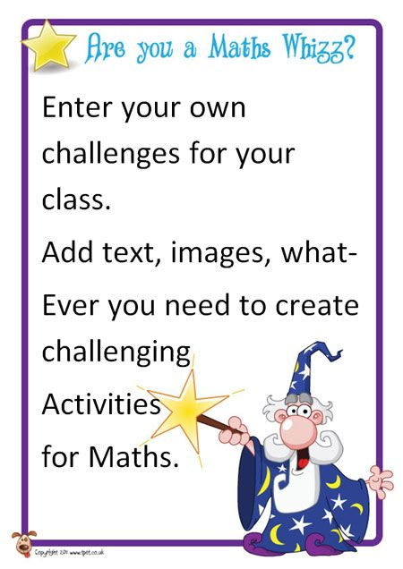Teacher's Pet Displays » Editable Maths Challenge Posters » FREE downloadable EYFS, KS1, KS2 classroom display and teaching aid resources » A Sparklebox alternative