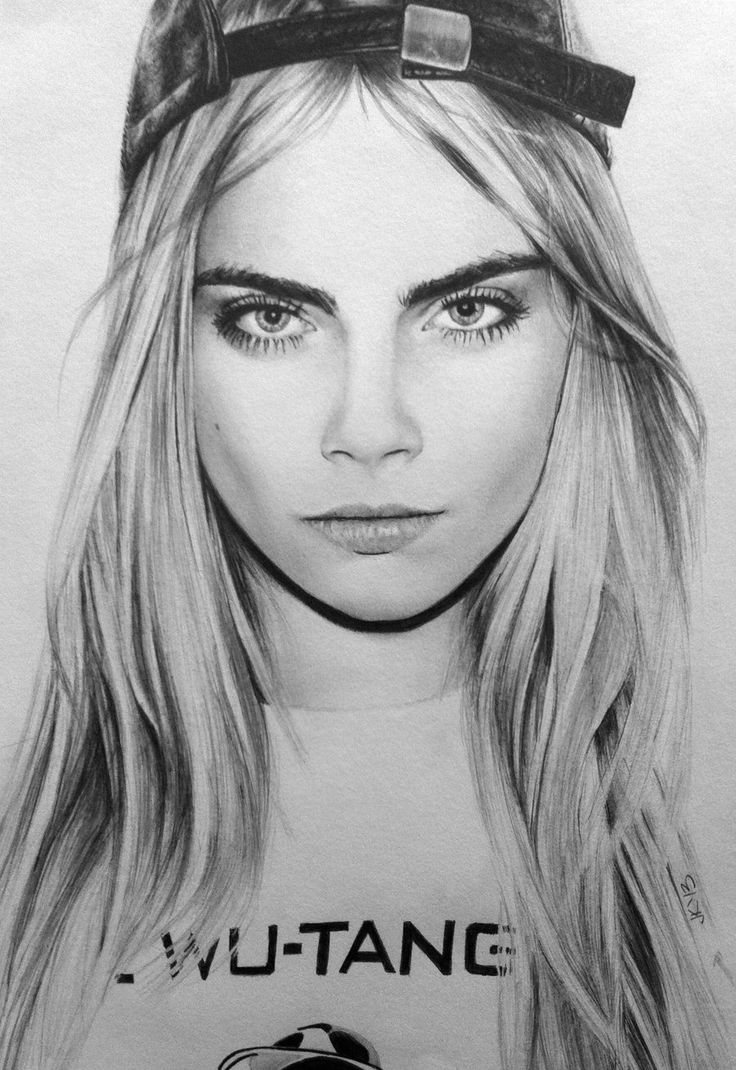 Best 25 cara delevingne drawing ideas on pinterest for Awesome face drawing