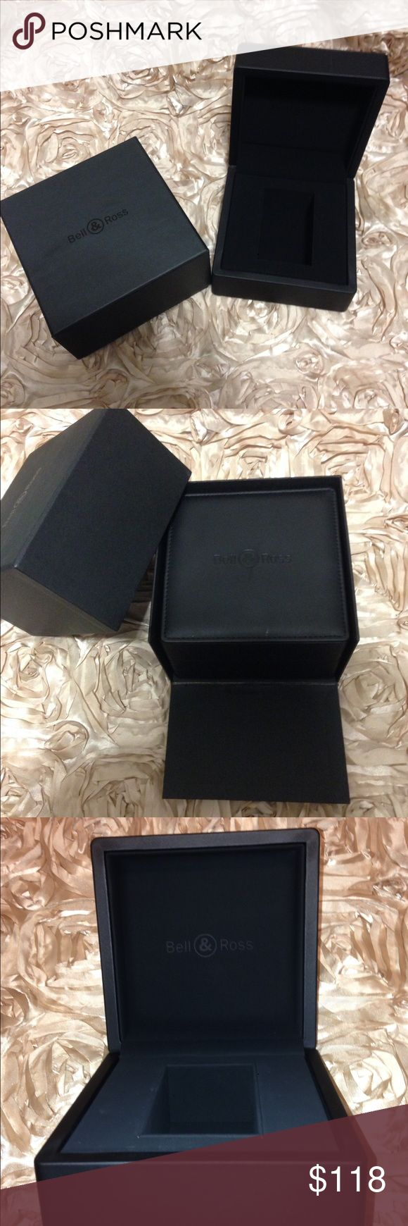BELL & ROSS Black Watch Box Case 100% Authentic BELL & ROSS Black Watch Box Case 100% Authentic Swiss New Inner and Outer. Perfect condition! Bell & Ross Other