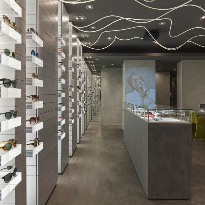 Carlotti optic boutique by Véronique Laurent eyewear store design