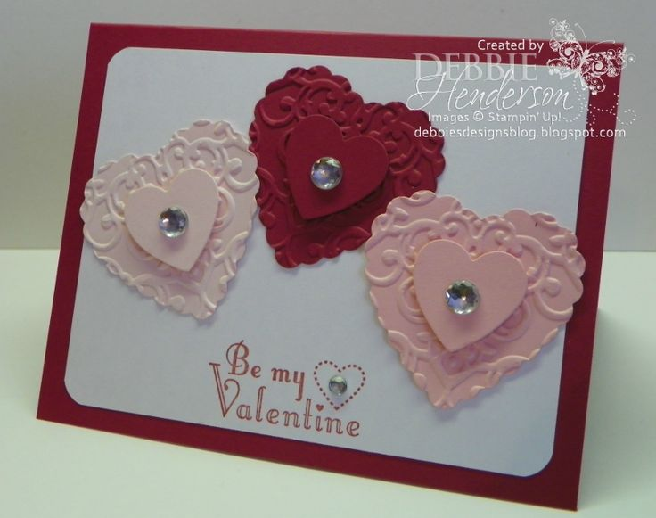 Beautiful (and easy) Valentine card!