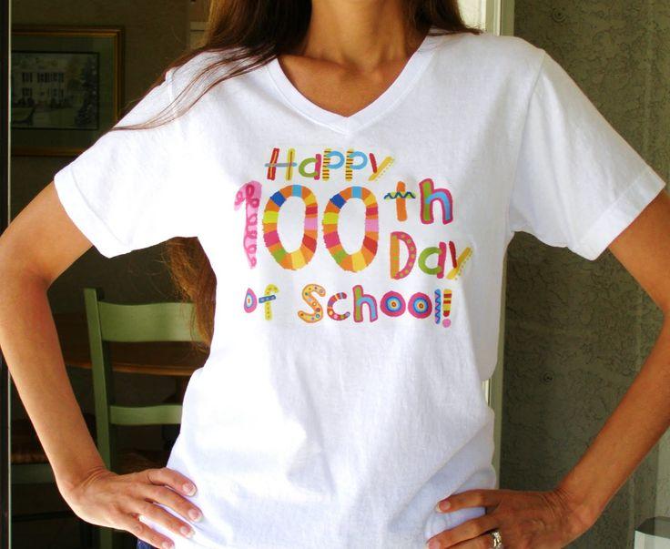 Free 100th Day of School T-Shirt Design.