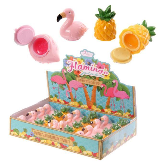 LIP34 - Lucidalabbra - Ananas e Fenicottero | Puckator IT  #partybag #kid #idee #compleanno #bambini|