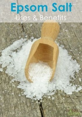 Benefits and Uses of Epsom Salt - Did you know it can remove splinters?? Cool! #remedies