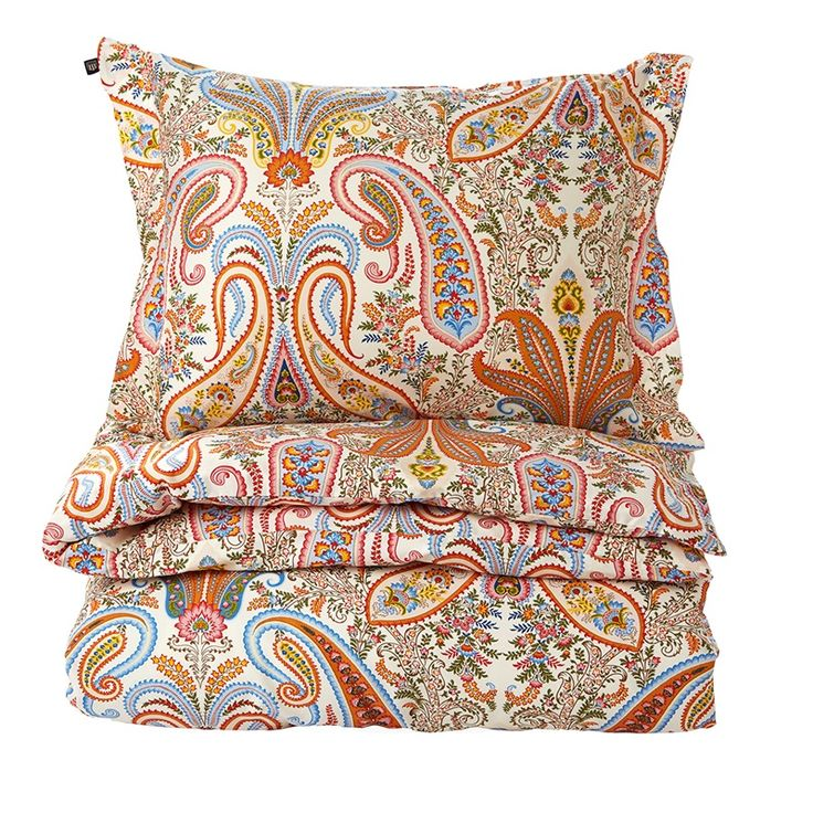 Key West Paisley Påslakan Papaya orange 150 x 210 - Gant Home - Dennys Home