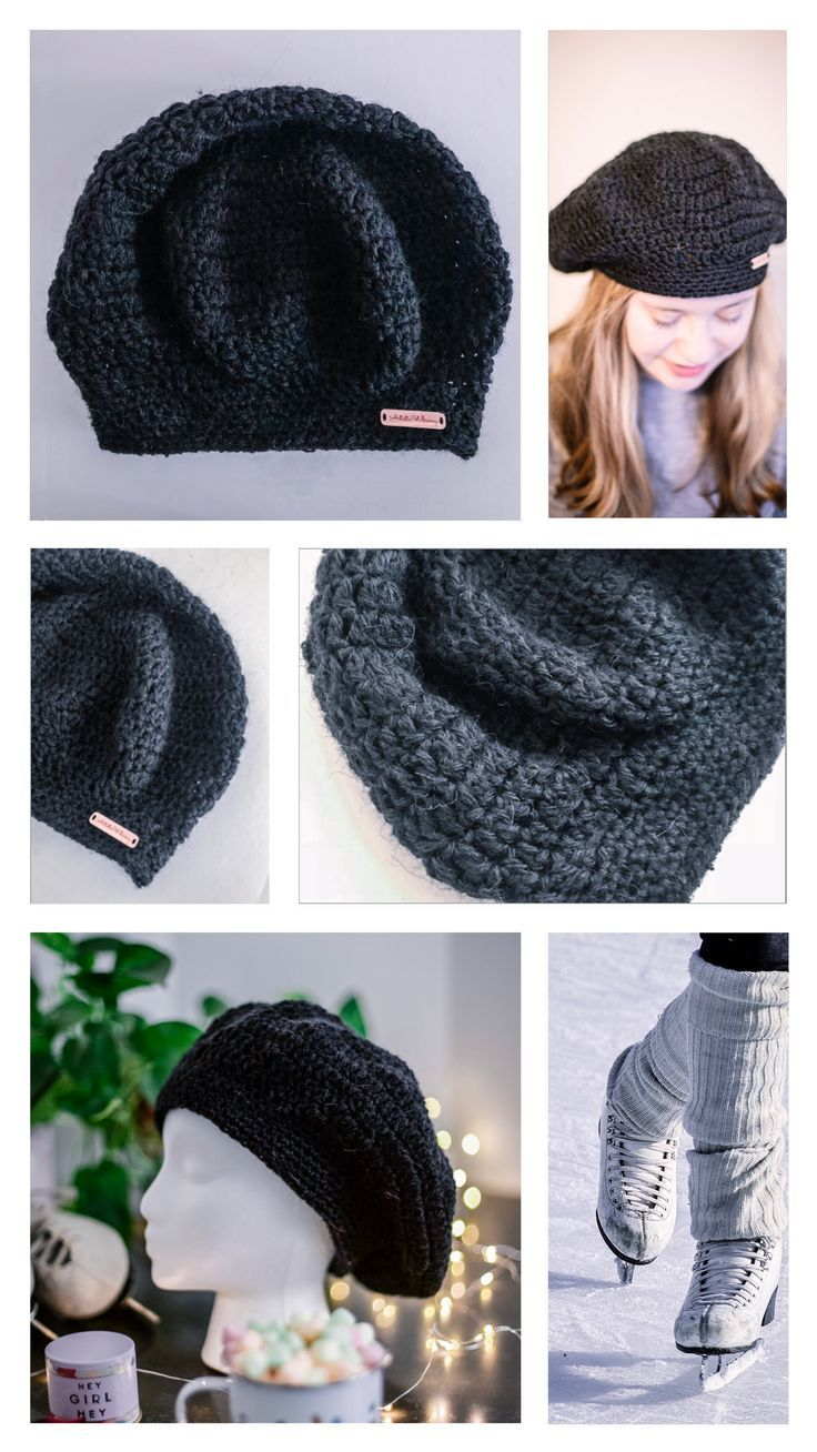 9178931d9435c The Lola Black Beret is a black beret crocheted with a soft and luxurious  alpaca wool and acrylic blend. A classy