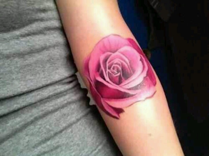Rose tattoo love the colour