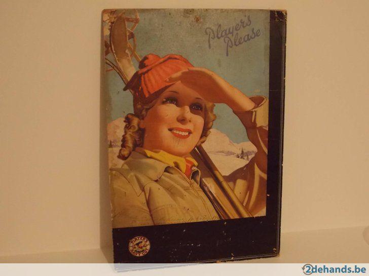 Zeer oud reclamebord (Player's navy cut) sigaretten(jaren30)