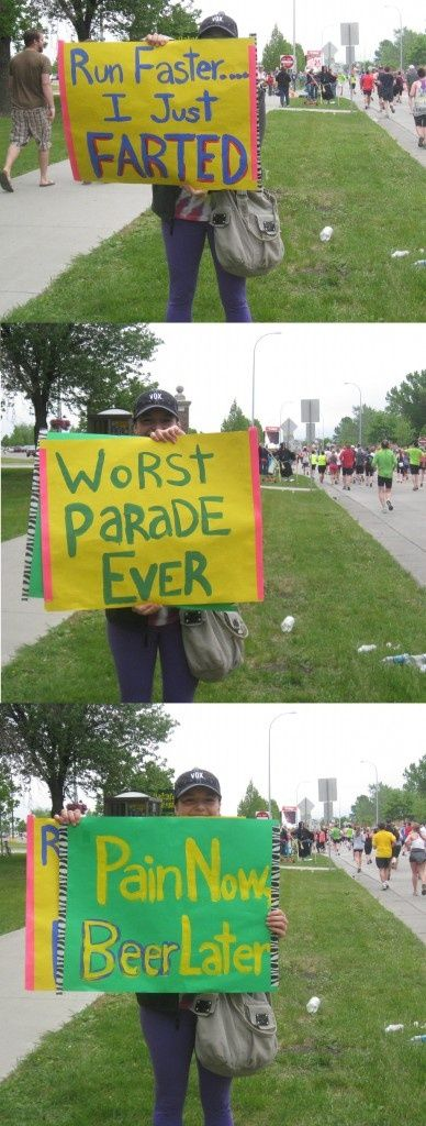 Hilarious! If this chick was at a marathon, I just might consider running it just to see this.. But not really. Haha