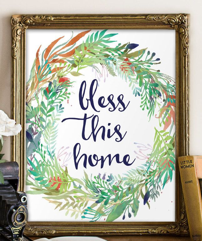 Home decor Blessed home decor Bless this home Wall decor