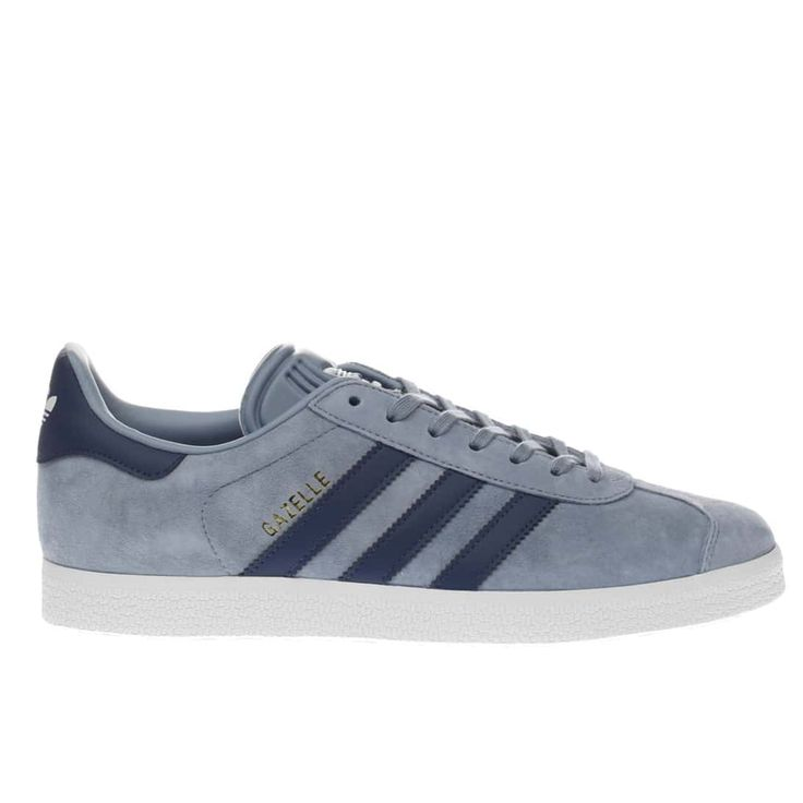 womens blue adidas gazelle suede trainers | schuh