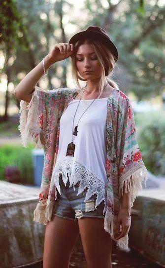 How To Style Kimonos.... | Boho fashion, Fashion, Bohemian style
