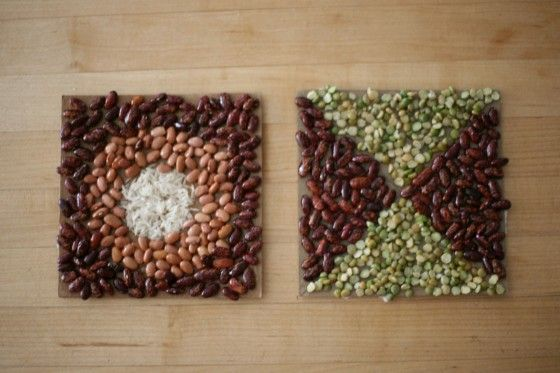 Art mosaics using food- then you can use them as a permanent display in the classroom