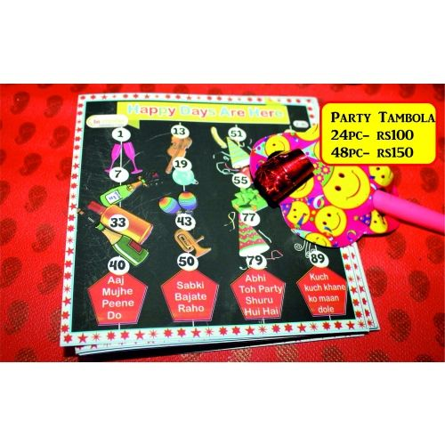 Happy Days-new Year Special For 48 Members-Home Decor-Be Creative Them Tambola Ticket