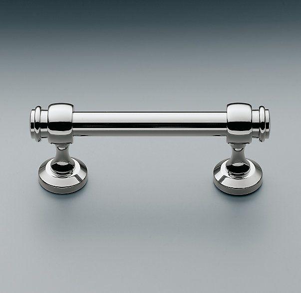 RH's Lugarno Pull in polished chrome, master bathroom                                                                                                                                                                                 More