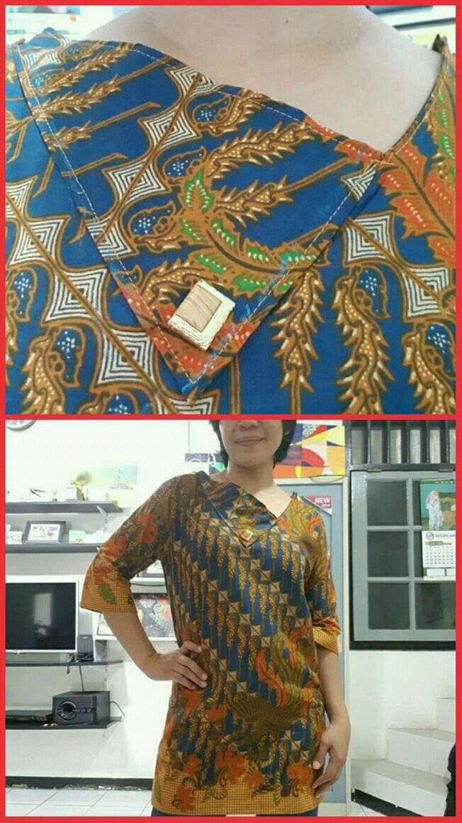 Loose batik blouse #self-made