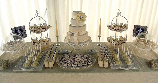Ivory Wedding Dessert Table by purecakes (lizzie), via Flickr