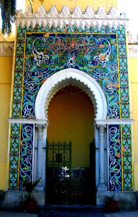 Africa | Entrance to the Sidi Soufi Mosque.  Bejaia, Algeria | ©Barchiche Chawki