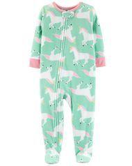 b0f6a6477 1-Piece Unicorn Fleece PJs