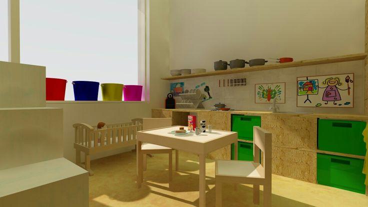 #ontwerp nieuwe poppenhoek #basisschool #interieur