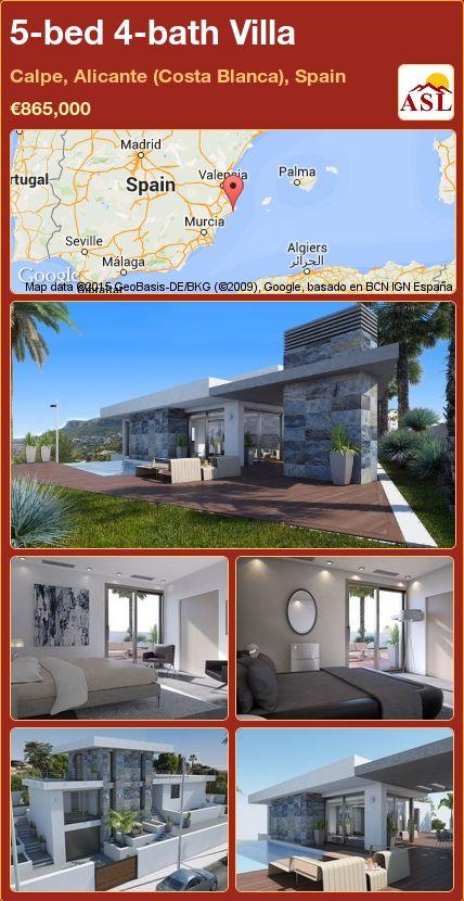 5-bed 4-bath Villa in Calpe, Alicante (Costa Blanca), Spain ►€865,000 #PropertyForSaleInSpain