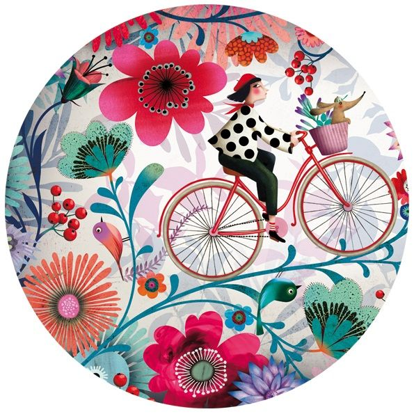 mujer en bicicleta, de narie desbons