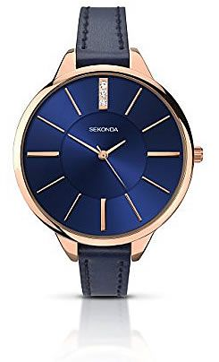 Sekonda Women's Quartz Watch with Blue Dial Analogue Display and Blue. Reloj análogo para dama en azul metálico. (This is an Amazon Affiliate link and I receive a commission for the sales)
