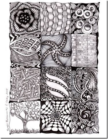 zentangle patterns | 24 of My Zentangle Patterns | Pretty Real Behind the  Veil